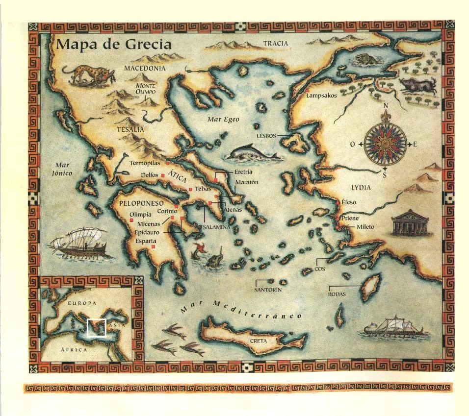 Mapa d ela Antigua Grecia